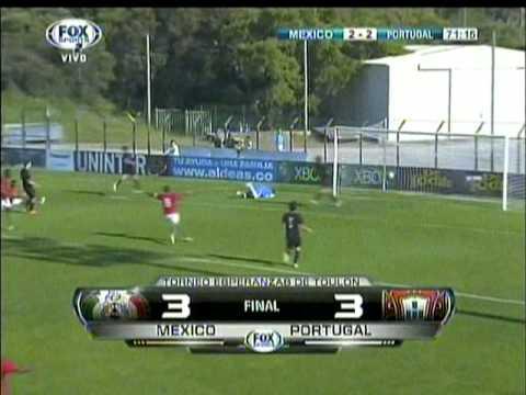 Mexico 3 vs portugal 3 Torneo esperanza de toulon Francia futbol sub 20