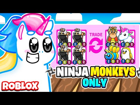 I Traded Only *LEGENDARY* NINJA MONKEY'S In Adopt Me For 24 Hours! Roblox Adopt Me Update