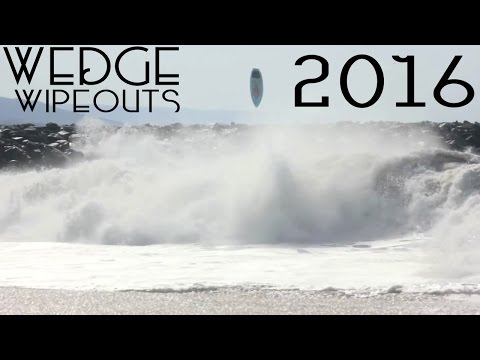 The Wedge Best Surf Wipeouts Compilation | 2016