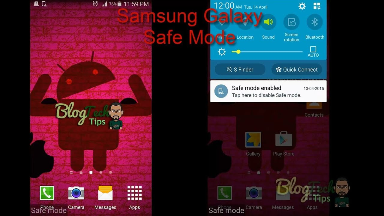 how to take samsung 6 out of safe mode