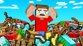 Playing MINECRAFT But You DROP ALL YOUR STUFF!