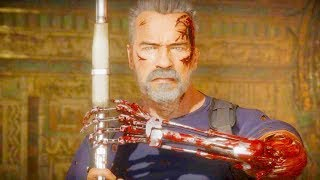Mortal Kombat 11 PC - Terminator Hunter Killer Skin Performs Intro Dialogues Vs All MK11 Characters