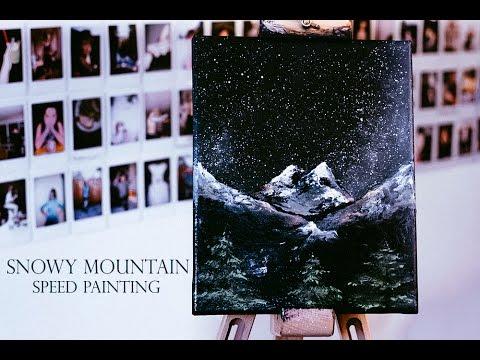 Snowy Mountain - Speed Painting