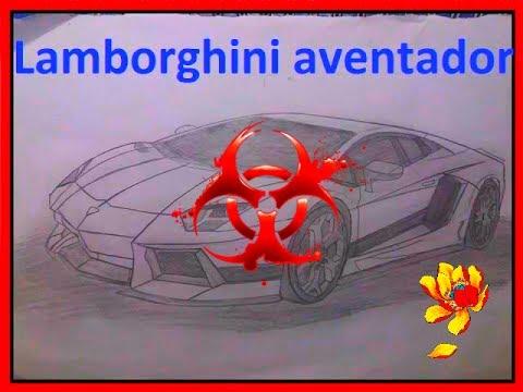 Lamborghini aventador  dessin