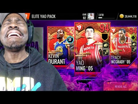 NEW YAO MING & MCGRADY IN LUNAR NEW YEAR PACK OPENING! NBA Live Mobile 18 Ep. 33