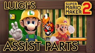 Super Mario Maker 2 - A Custom Luigi's Assist Mode Level