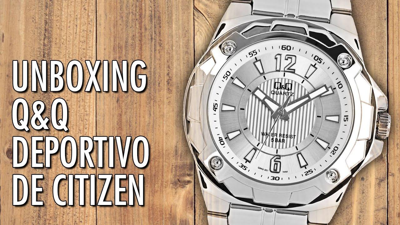 baa9fe83f963 Unboxing QQ Q842J201Y de Citizen Reloj Barato y Deportivo en Español ...