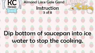 Almond Lace Gale Gand - Kitchen Cat