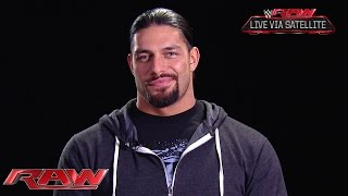 Roman Reigns addresses his recovery from surgery: Raw, Oct. 6, 2014