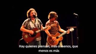 Eddie Vedder and Johnny Depp Society subtitulada en español