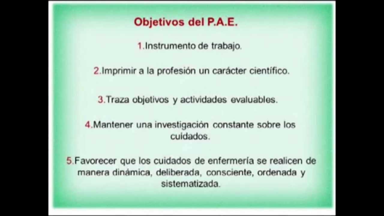 Plan de atención de enfermería (PAE) - UNERG - YouTube