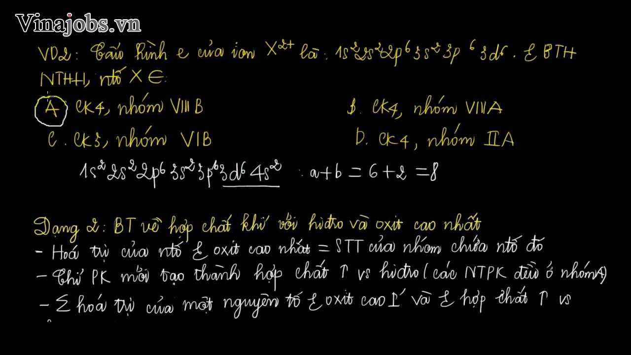 Hóa học 10   bài 2   Các dạng bài tập phần Cấu Tạo Nguyên Tử Và Quy Luật Tuần Hoàn
