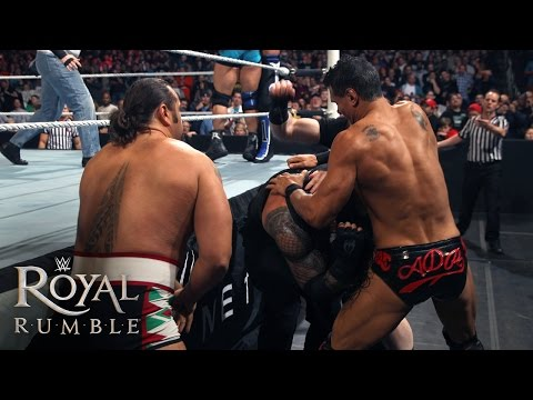 WWE Network: The League of Nations attacks Roman Reigns in the Royal Rumble Match: Royal Rumble 2016