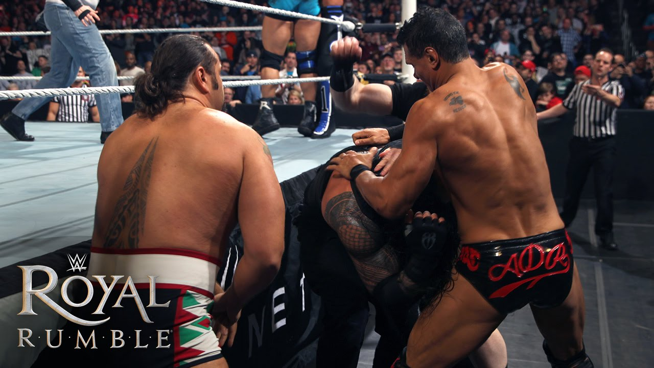 Wwe Network The League Of Nations Attacks Roman Reigns In The Royal Rumble Match Royal Rumble 2016 Youtube