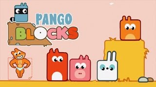 Kids Learn Logic Puzzels With Blocks and BUILD a Path for Pango From Pango Story Time