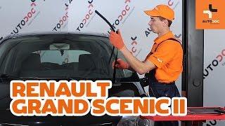 Cómo cambiar escobillas del limpiaparabrisas delantero en RENAULT GRAND SCENIC 2