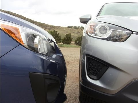 2013 Mazda CX-5 Versus Subaru Impreza Mashup Drag Race