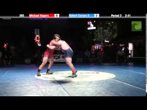285 lbs. 7th - Michael Rogers (PA) vs. Robert Carson II (IL)