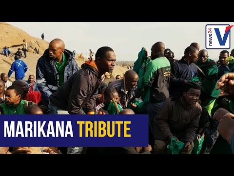 WATCH: Miners pay tribute to the lives lost during Marikana massacre
