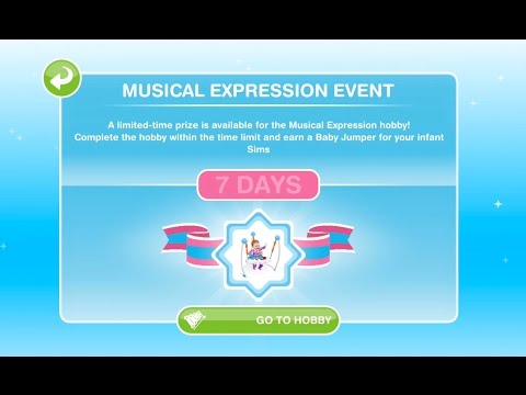 Sims Freeplay | Musical Expression Hobby | Baby Steps Update #2