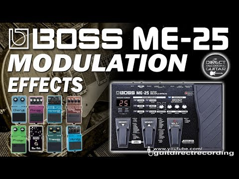 BOSS ME-25 MODULATION - All Effects - Chorus, phaser, flanger, harmonist, univibe...