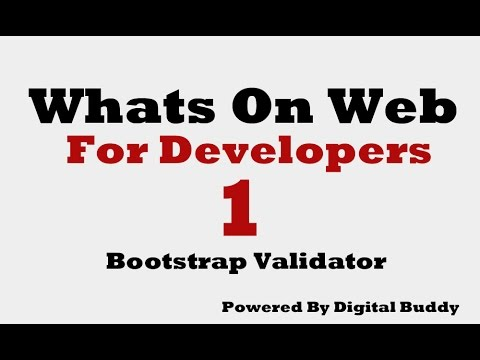 Bootstrap 3 Validator Plugin Youtube