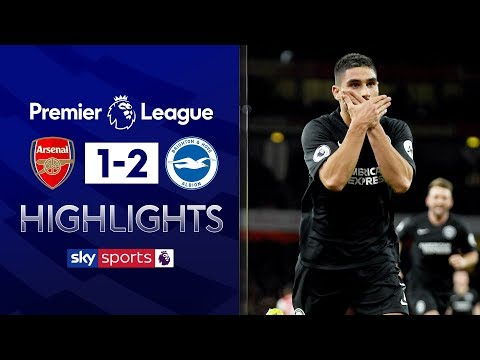 Neal Maupay's late header piles misery on Arsenal | Arsenal 1-2 Brighton | Premier League Highlights