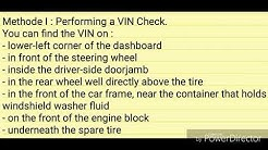 How to check if a car is stolen
