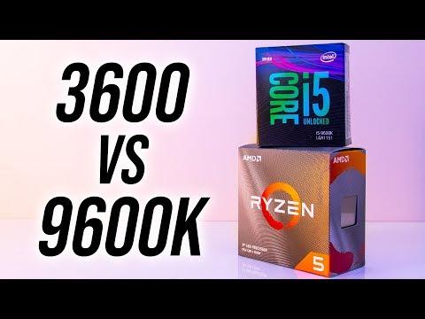 AMD Ryzen 5 3600 vs Intel i5-9600K - CPU Comparison