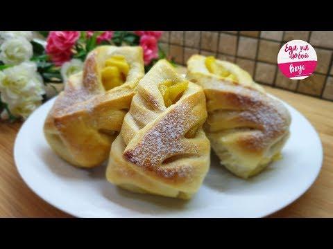 Пышные пирожки (булочки) Кулёчки в духовке с яблоками