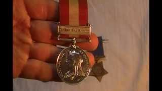 Fenian Raid 1885 Reil Rebelion Medals Canadian Victorian Military Medal collection Egypt