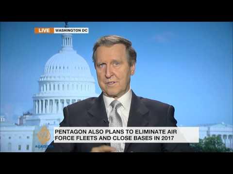Ex-Pentagon chief discusses planned cutbacks