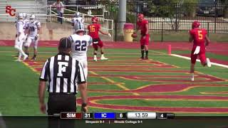 Simpson receiver makes one-handed TD grab