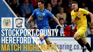 Stockport County Vs Hereford FC - Match Highlights - 13.10.2018