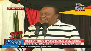 President Kenyatta: Nusu mkate, hata slice moja hakuna! Mkitaka shindeni uchaguzi #Decision2017