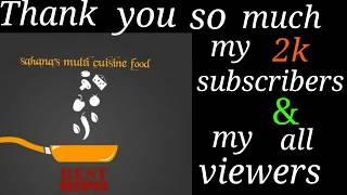 Thanking You All My Subscribers And viewers