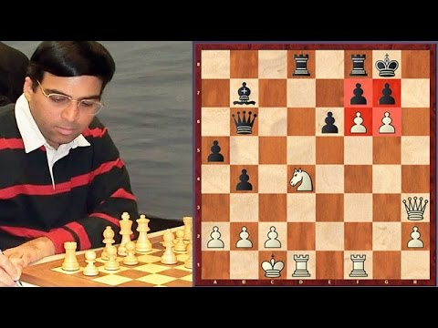 Viswanathan Anand's Unforgettable Attacking Hanging Pawns