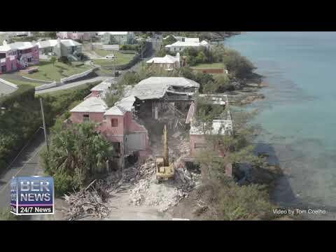 Aerial View   Demolition Of Clayhouse Inn, September 2020
