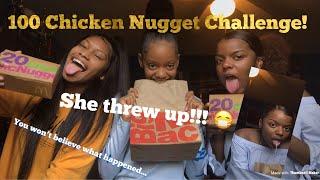 SHE THREW UP!!   100 Chicken Nugget Challenge