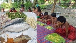 Hilsa/Elish Fish Hodgepodge Cooking For Kids Picnic / Prepared By Children / Tasty Village Food