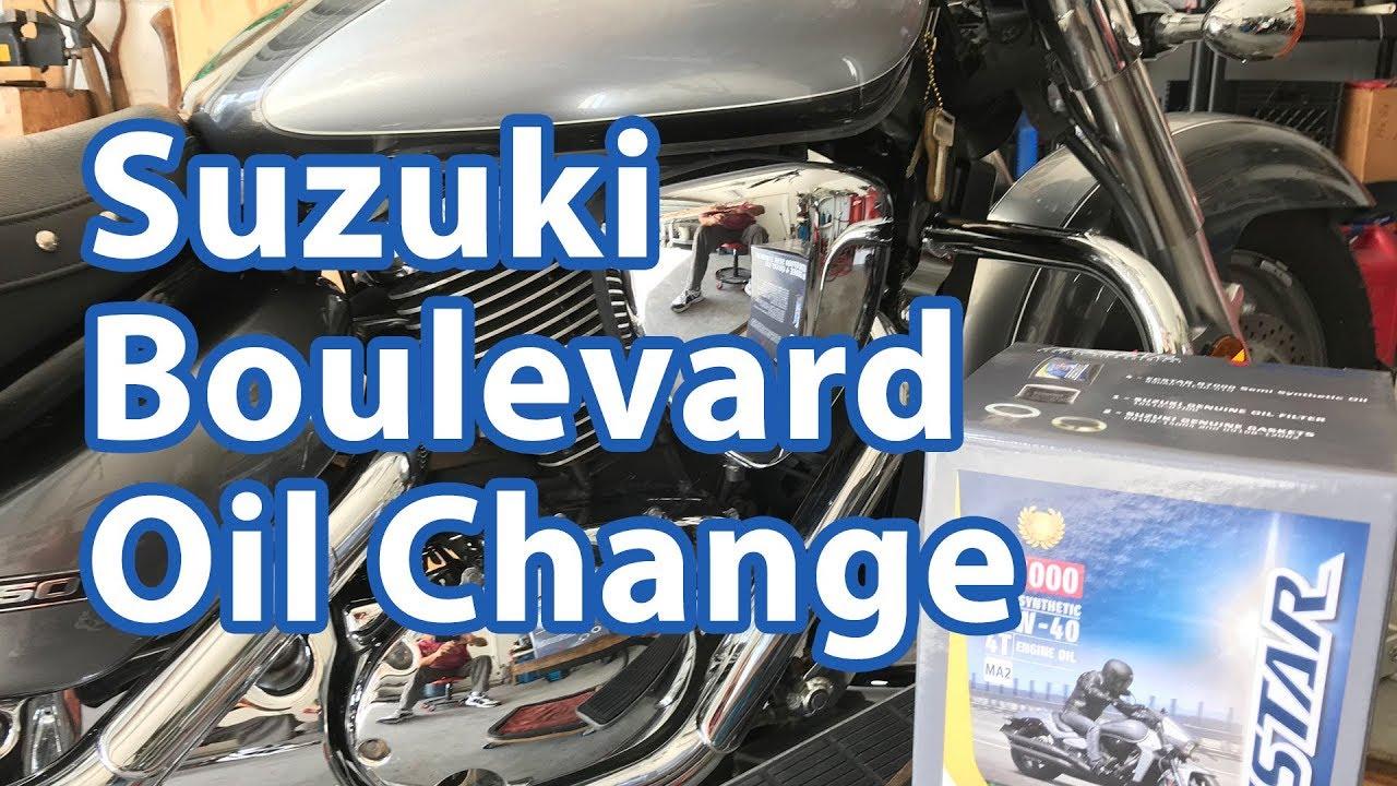 Suzuki Boulevard Oil and Filter Change
