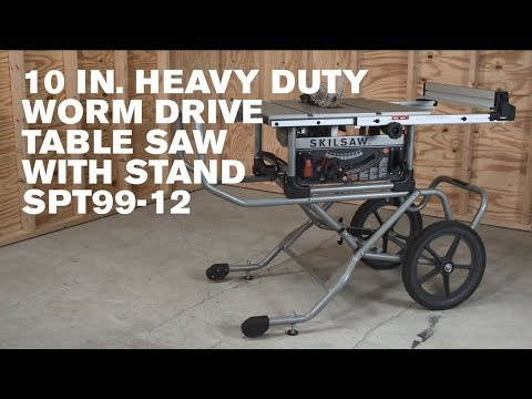 10 In. Heavy Duty Worm Drive Table Saw With Stand U0026 Diablo Blade, SPT99 12