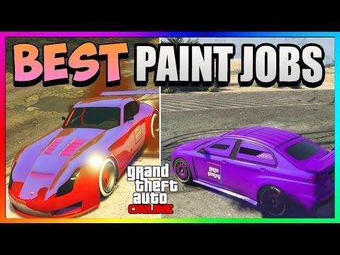 GTA 5 Online - Best RARE Paint Jobs! - Dark Matter & Tangerine Dream! (GTA 5 Paint Jobs)