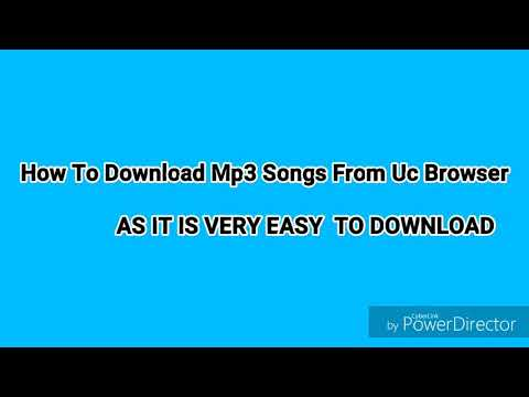 How To Download Mp3 Song's  From Uc Browser