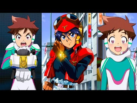 Shinkalion meets Might Gaine (0:30), evil copies of Black Might Gaine & Seiryu show up (8:21), the evil Black Might Gaine is actually a revived Black Noah ...