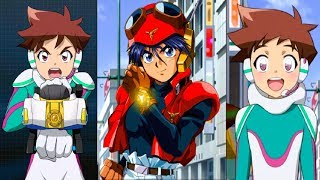Shinkalion meets Might Gaine (0:30), evil copies of Black Might Gai...