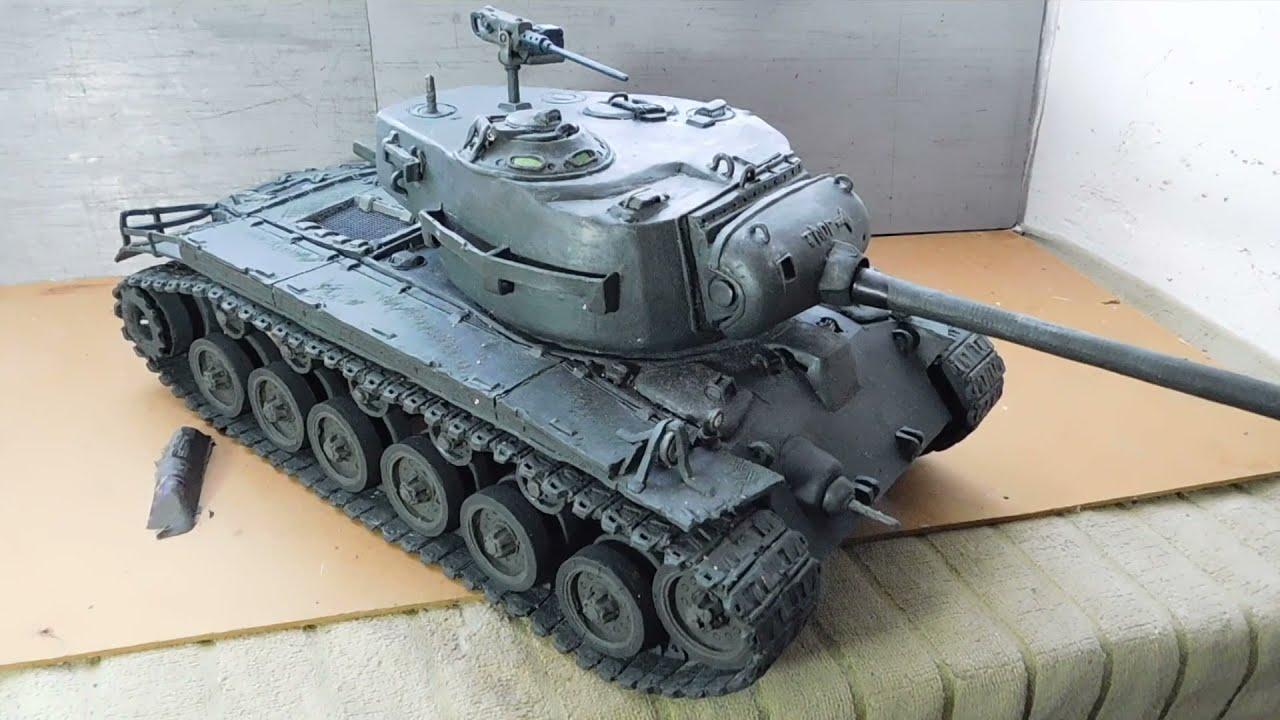 Проект танк M26 Pershing и мощный кумуль на кирпиче