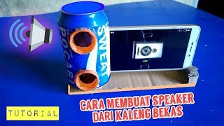Speaker sederhana kaleng bekas minuman