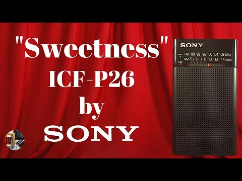 Sweetness! Sony ICF-P26 FM AM Portable Radio Review