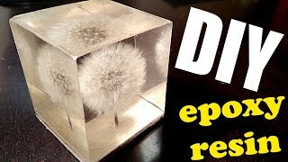 Dandelion in resin / DIY / resin art / resin casting